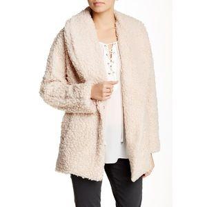 Oversized Cream Teddy Sherpa Coat